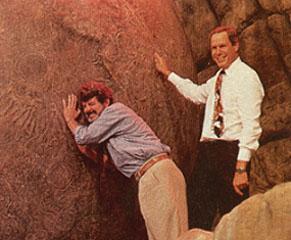 麥可恩斯納與喬治盧卡斯在迪士尼世界【印第安那瓊斯歷險】開張