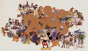 迪士尼迎接2000年海報