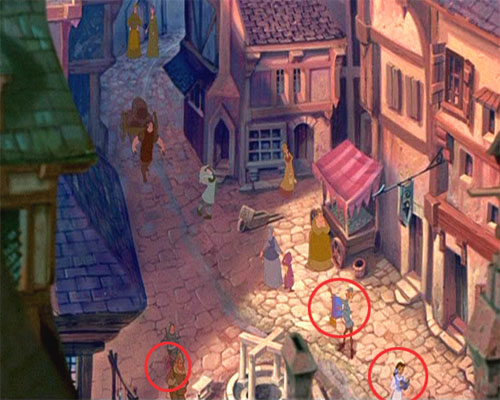 Des personnages de Disney dans d'autres Disneys Belle